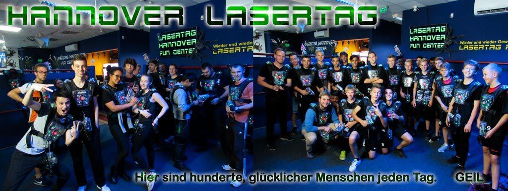 Gruppen und Familien ist GEIL für Lasertag spielen