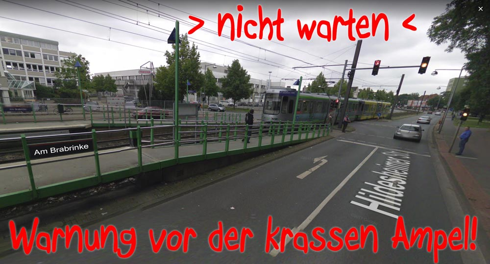 Anfahrt Lasertag Hannover FUN Center Ampel